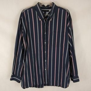 Tommy Hilfiger Striped Long Sleeve Shirt Size XL